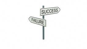 Keus tussen succes en mislukking stock foto's