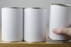 Keus van Drie Tin Cans stock foto