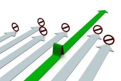 Keus van een richting van beweging. stock illustratie