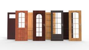 Keus voor een deur Stock Afbeelding
