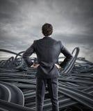 Keuzen van een zakenman en een moeilijk carrièreconcept royalty-vrije stock afbeelding