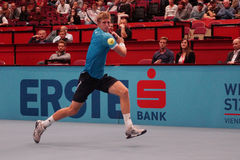 Kevin Anderson (RSA). VIENNA, AUSTRIA - OCTOBER 22, 2015: Kevin Anderson (RSA) during his 2nd round match against Jiri Vesely (CZE) at the Erste Bank Open in Stock Images