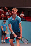 Kevin Anderson (RSA). VIENNA, AUSTRIA - OCTOBER 22, 2015: Kevin Anderson (RSA) during his 2nd round match against Jiri Vesely (CZE) at the Erste Bank Open in Royalty Free Stock Photography