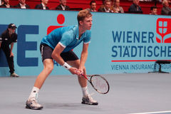 Kevin Anderson (RSA). VIENNA, AUSTRIA - OCTOBER 21, 2015: Kevin Anderson (RSA) during his 1st round match against Andreas Haider-Maurer (AUT) at the Erste Bank Stock Photos