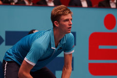 Kevin Anderson (RSA). VIENNA, AUSTRIA - OCTOBER 21, 2015: Kevin Anderson (RSA) during his 1st round match against Andreas Haider-Maurer (AUT) at the Erste Bank Royalty Free Stock Photography