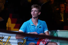 Kevin Anderson (RSA). VIENNA, AUSTRIA - OCTOBER 21, 2015: Kevin Anderson (RSA) during his 1st round match against Andreas Haider-Maurer (AUT) at the Erste Bank Royalty Free Stock Photos