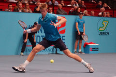 Kevin Anderson (RSA). VIENNA, AUSTRIA - OCTOBER 21, 2015: Kevin Anderson (RSA) during his 1st round match against Andreas Haider-Maurer (AUT) at the Erste Bank Stock Images