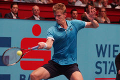 Kevin Anderson (RSA). VIENNA, AUSTRIA - OCTOBER 21, 2015: Kevin Anderson (RSA) during his 1st round match against Andreas Haider-Maurer (AUT) at the Erste Bank Stock Image