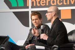 Kevin Bacon på SXSW 2014 royaltyfri bild