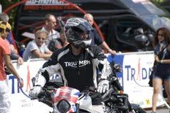 Kevin Carmichael am Triumph Tridays in Newchurch 2 Lizenzfreies Stockfoto