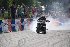 Kevin Carmichael am Triumph Tridays in Newchurch 2 Lizenzfreie Stockfotos