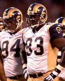 Kevin Carter. Defenceive End Kevin Carter of the St Louis Rams gets ready for the next play on Monday Night Football.The St.Louis Rams went on to defeat the New Royalty Free Stock Image
