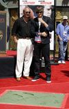 Kevin Costner and Ashton Kutcher Royalty Free Stock Photos
