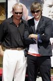 Kevin Costner and Ashton Kutcher Royalty Free Stock Images