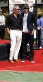 Kevin Costner and Ashton Kutcher Stock Photos