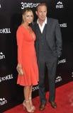 Kevin Costner Baumgartner & Christine zdjęcia royalty free