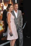 Kevin Costner & Christine Baumgartner Royalty-vrije Stock Afbeelding