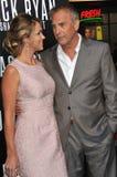 Kevin Costner & Christine Baumgartner Royalty-vrije Stock Fotografie