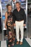 Kevin Costner & Christine Baumgartner Stock Image