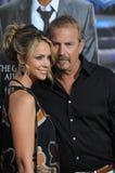 Kevin Costner & Christine Baumgartner Stock Photography
