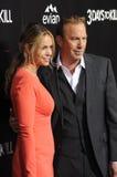 Kevin Costner & Christine Baumgartner Royalty Free Stock Photos