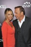 Kevin Costner & Christine Baumgartner Stock Photo