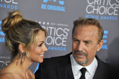 Kevin Costner & Christine Baumgartner Royalty Free Stock Photography