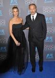 Kevin Costner & Christine Baumgartner Royalty Free Stock Images