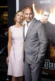 Kevin Costner and Christine Baumgartner Stock Image