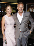 Kevin Costner and Christine Baumgartner Royalty Free Stock Images