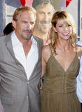 Kevin Costner and Christine Baumgartner Stock Photos