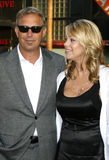 Kevin Costner and Christine Baumgartner Royalty Free Stock Image