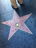 Kevin Costner Hollywood walk of fame star. Stock Images