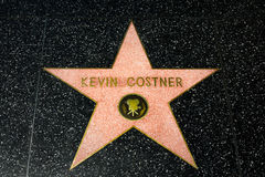 Kevin Costner Star on the Hollywood Walk of Fame Stock Photo