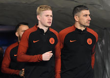 Kevin De Bruyne and Aleksandar Kolarov stock photography