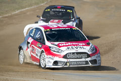 Kevin Eriksson.  Barcelona FIA World Rallycross Royalty Free Stock Images