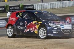 Kevin HANSEN Peugeot Red Bull Hansen Barcelona FIA World Rallycross Royalty-vrije Stock Fotografie