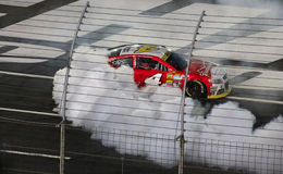 Kevin Harvick #44 burn out 10-11-14 race (2) royalty free stock image