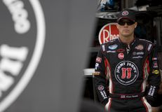 Kevin Harvick in der Garage Stockfotografie