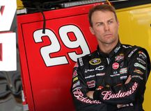 Kevin Harvick in garage area Royalty Free Stock Photo