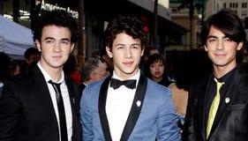 Kevin Jonas, Joe Jonas e Nick Jonas Imagem de Stock