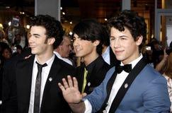 Kevin Jonas, Joe Jonas en Nick Jonas Stock Afbeeldingen