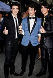 Kevin Jonas, Joe Jonas and Nick Jonas. 24/02/2009 - Hollywood - Kevin Jonas, Joe Jonas and Nick Jonas of Jonas Brothers at the World Premiere of `Jonas Brothers Royalty Free Stock Image