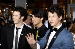 Kevin Jonas, Joe Jonas and Nick Jonas. At the World Premiere of `Jonas Brothers: The 3D Concert Experience` held at the El Capitan Theater in Hollywood Stock Images