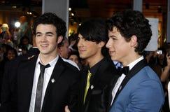Kevin Jonas, Joe Jonas und Nick Jonas Stockbilder