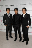 Kevin Jonas,Nick Jonas,Elton John,Joe Jonas Royalty Free Stock Photography