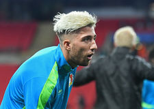 Kevin Kampl. Football players pictured prior to UEFA Champions League Group E game between Tottenham Hotspur and Bayer Leverkusen on November 2, 2016 at Wembley Stock Photography