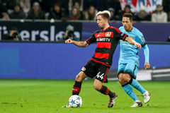 Kevin Kampl during the UEFA Champions League game between Bayer Royalty Free Stock Photography