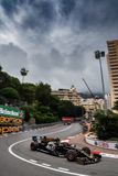 Kevin Magnussen attacking the hairpin at Monaco