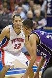 Kevin Martin Guarded By Tayshaun Prince Royalty Free Stock Photo